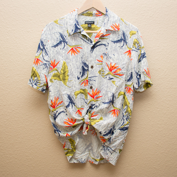 George Tops - George Hawaiian Short Sleeve Blouse